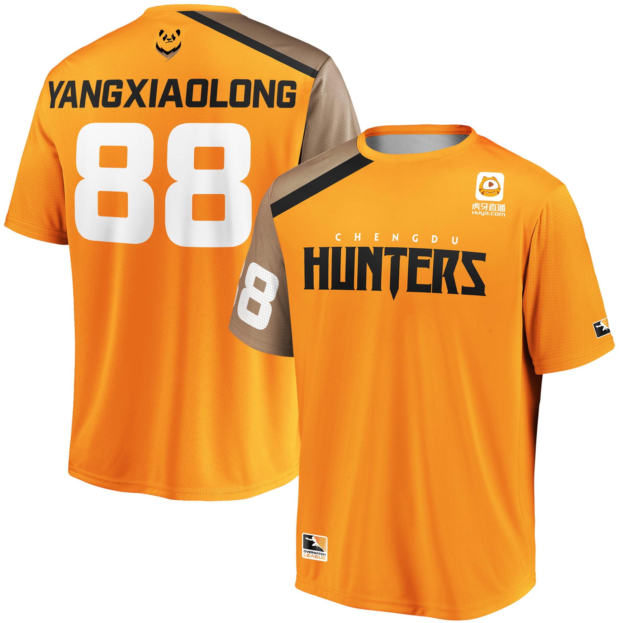 YangXiaoLong Chengdu Hunters Overwatch League Replica Home Jersey - Orange