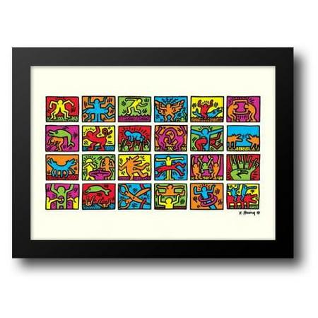 FrameToWall - Retrospect 1989 32x24 Framed Art Print by Haring, Keith