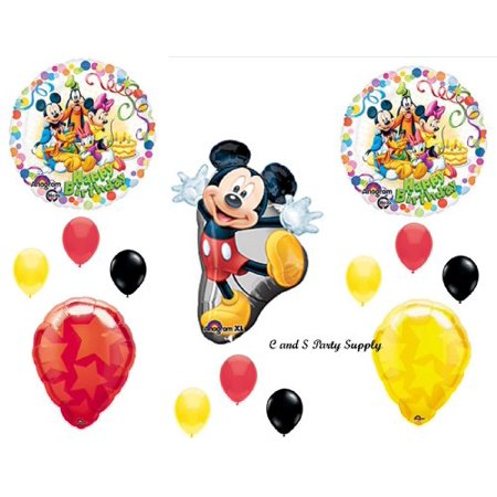 Mickey Mouse Clubhouse Happy Birthday Party Balloons Decorations Supplies Minnie Goofy