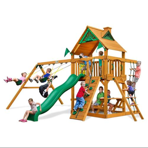 Chateau Swing Set with Amber Posts