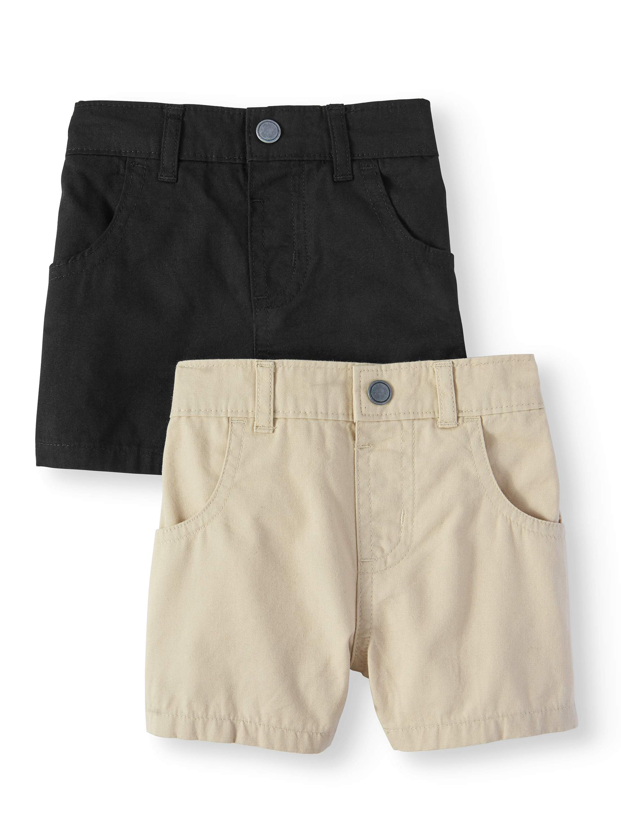 Pull-On Canvas Shorts, 2pc Multi-Pack (Baby Boys)