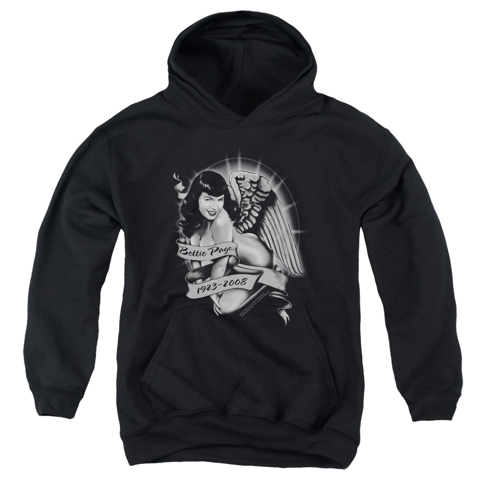 Bettie Page Remember Big Boys Pullover Hoodie