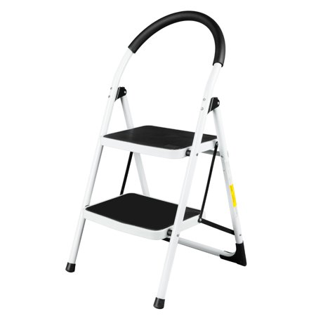 UBesGoo Steel Folding 2 Step Ladder 330lbs Capacity ...