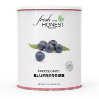 Fresh and Honest Foods 100% All Natural Freeze Dried Blueberries 11.1 OZ #10 Can