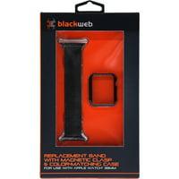 Blackweb Apple Watch 38mm Mesh Band & Bumper, Black