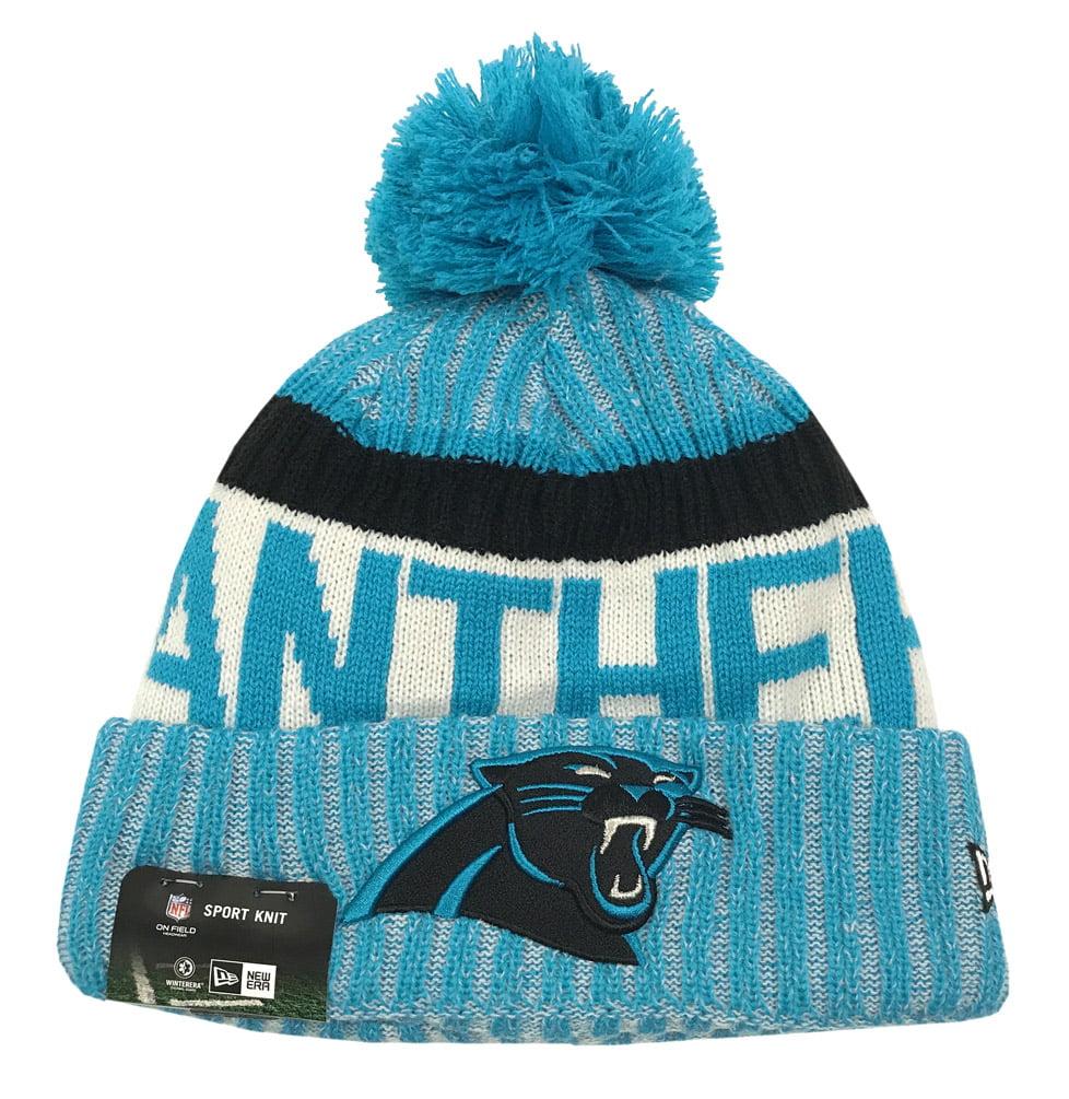 New Era Carolina Panthers Knit Beanie Cap Hat NFL On Field Sideline 11460406 by New Era
