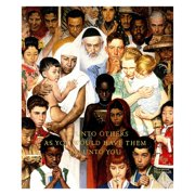 Marmont Hill Golden Rule by Norman Rockwell Canvas Wall Art