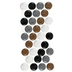 Bulk Buy: We R Memory Keepers (3-Pack) Enamel Dots & Shapes Neutral Dots, 32/Pkg 426-12