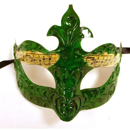 Green Mens Music Masquerade Mardi Gras Mask New Years Eve Halloween