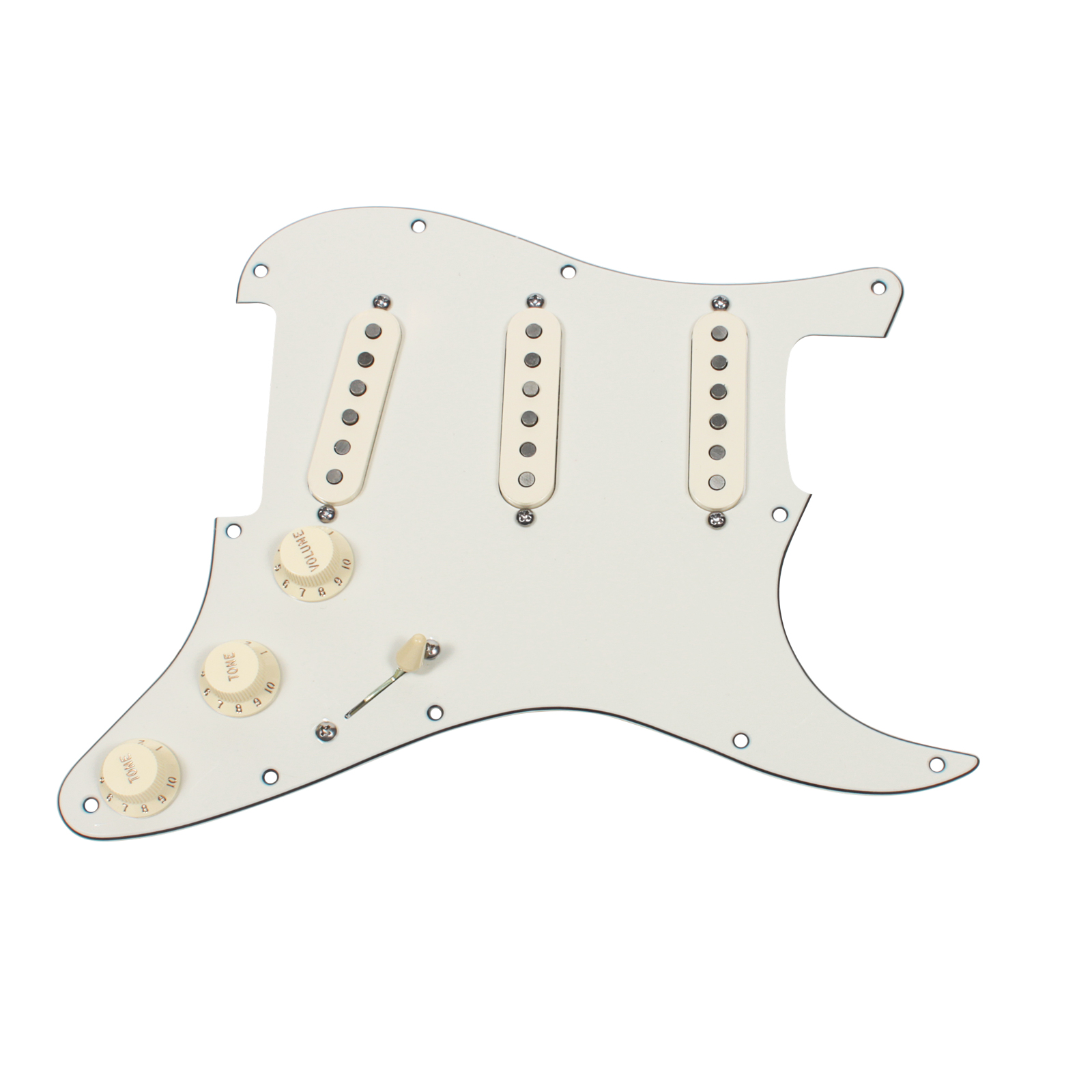 Click here to buy Fender Tex-Mex 920D Loaded Pre-wired Strat Pickguard PA AW.