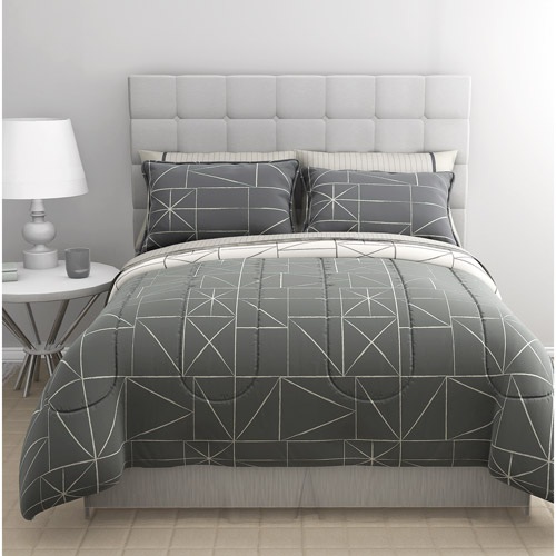 East End Living Chalkboard Geo Complete Bed-in-a-Bag Bedding Set