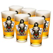 16 Ounces Pint Glass Know when to hold them, Set of 6 by Erazorbits