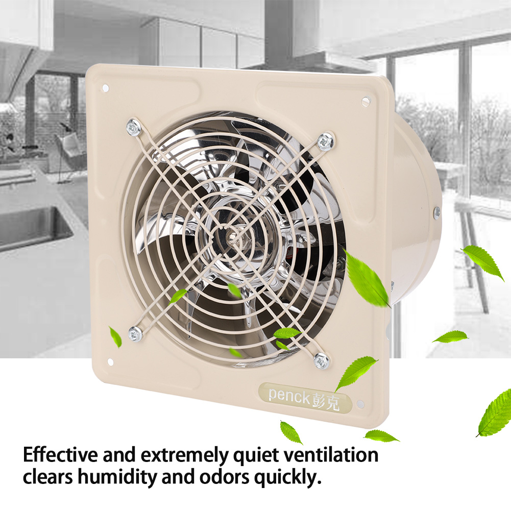 Ashata 40W 220V Wall Mounted Exhaust Fan Low Noise Home Bathroom Kitchen Garage Air Vent Ventilation, Wall Mount Ventilation Fan,Bathroom Exhaust Fan