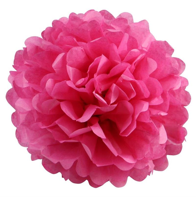 "BalsaCircle 12 pcs 10"" Paper Pom-Poms Party Supplies"