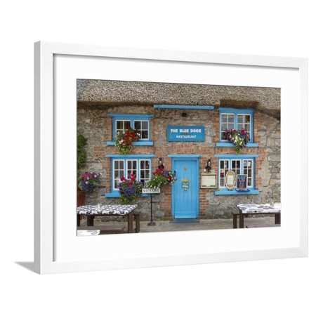 Cottage Cafe in Adare, County Limerick, Republic of Ireland Framed Print Wall Art By Brian Jannsen