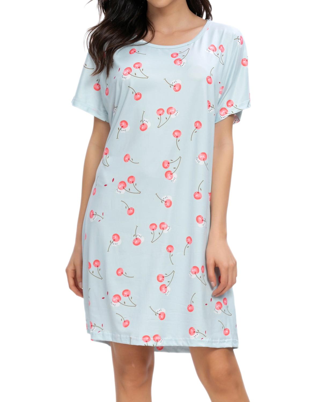 XL Nightgown Chose Happy Face XXL L Pinstripe or Cartoon Size Choice M