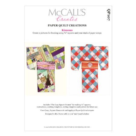 McCall's Creates Paper Quilt Creations Craft Pattern, Kimono Quilt Picture