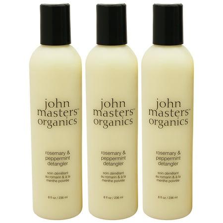 John Masters Organics Rosemary & Peppermint Detangler, 8 oz. (Pack Of 3)