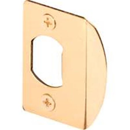 Prime Line E2349 Standard Door Strike, Steel, Brass Plated (Door Hardware Strike Plate)