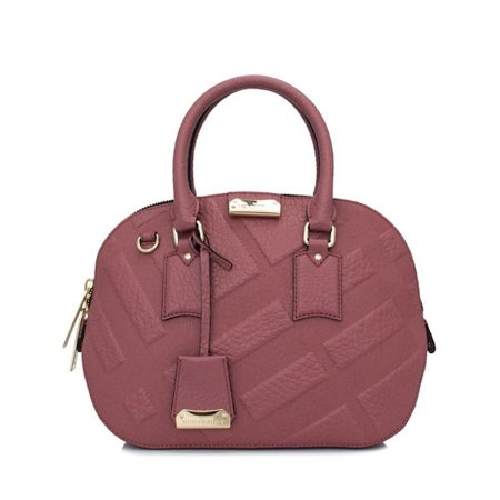 cde635462aa2 Burberry - Burberry Signature Grain Check Small Orchard Bowling Bag in  Antique Rose - Walmart.com