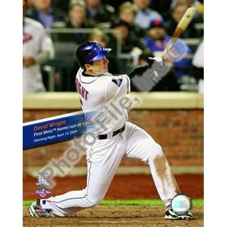 David Wright - First Mets HR 2009 Citi Field Inaugural Game Sports Photo (Citi Field Mets)