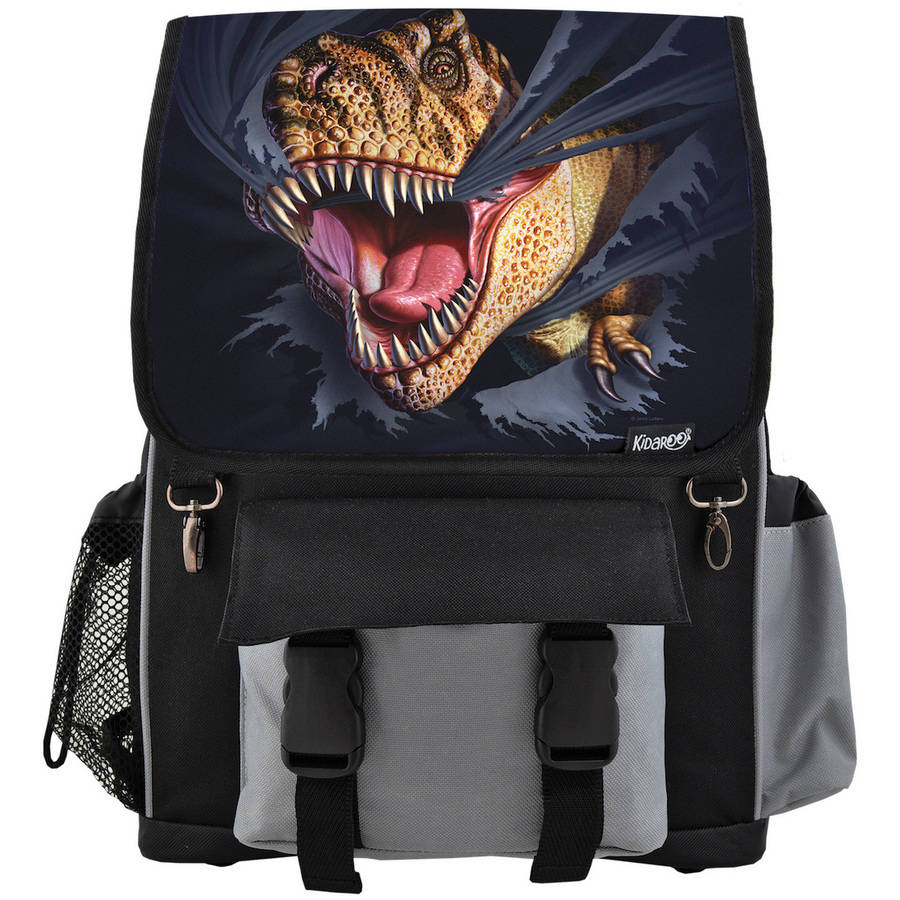 Kidaroo High Quality Tearing T-Rex Dinosaur School Backpack For Boys, Girls and Kids, Multiple Colors Available