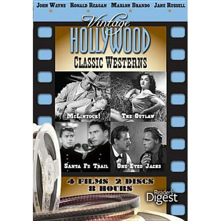 Vintage Hollywood: Classic Western - McClintock! / One-Eyed Jacks / Santa Fe Trail / The Outlaw (Santa Fe Spiegel)