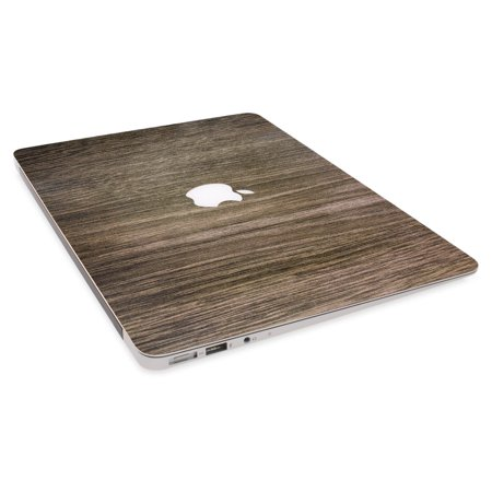 GolemGuard - Brown Wood Texture 4-in-1 Semi-Transparent Protector Skin Decals Laptop Notebook Decal Sticker Keyboard Cover for 2016 Apple Macbook Pro A1707 15