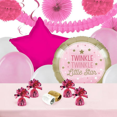 Twinkle Twinkle Little Star Party Decorations (Twinkle Twinkle Little Star Pink Decoration)