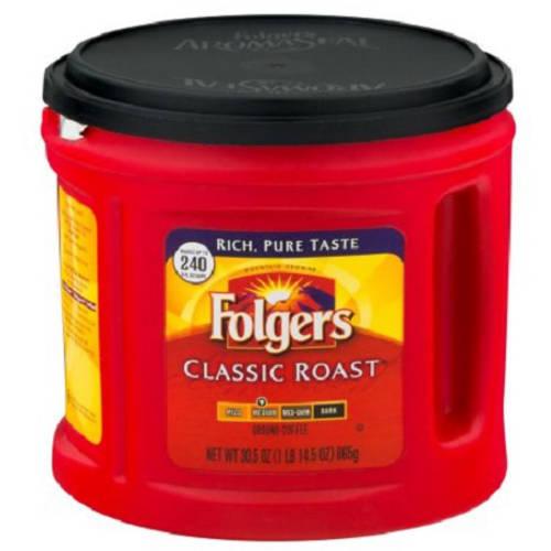 FOLGERS 38.4 OUNCE CAFFEINE GROUND CAN