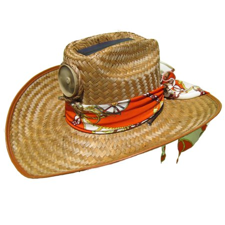 Kool Breeze Solar Straw Cooling Hat - Cowgirl w. Starter Scarf (L) for $<!---->