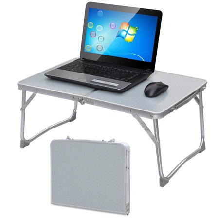 Yaheetech Foldable Laptop Table Tray Desk Stand Bed Sofa
