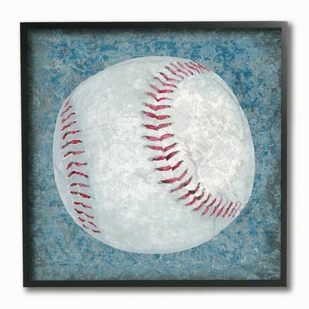 The Kids Room by Stupell Grunge Sports Equipment Baseball Framed Giclee Texturized Art, 12 x 1.5 x (Sport Frames)