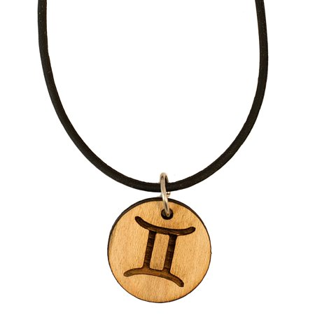 Necklace - Gemini - Raw Wood