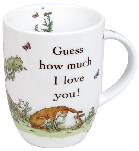 Konitz 12-Ounce Guess How Much I Love You Mugs, Giftboxed, Set of 4