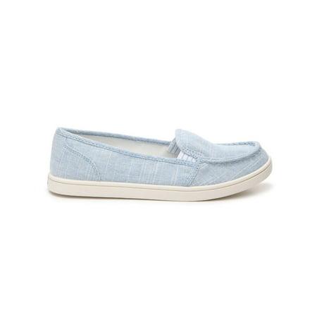Not Rated Womens Mackerel Moc Canvas Slip On Sneaker (Denim, 9.5)