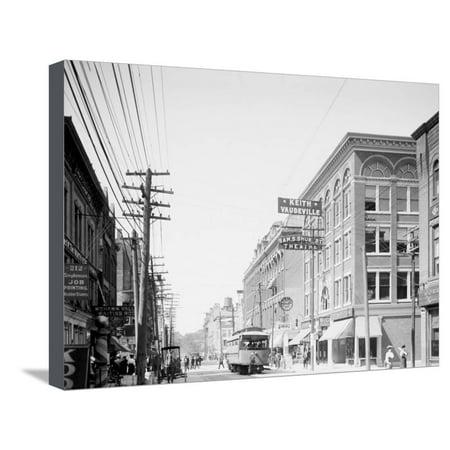 Bleecker Street, Utica, N.Y. Stretched Canvas Print Wall Art (Bleecker Canvas)