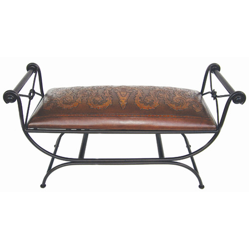 New World Trading Colonial Double Vanity Bench
