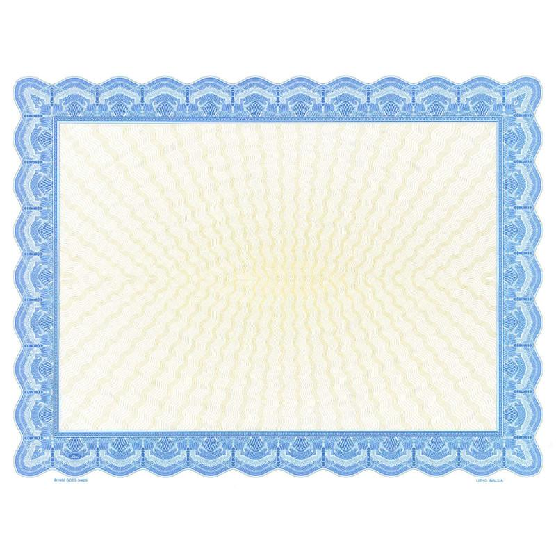 Goes 34625 Blank Certificate Paper - Pack of 25