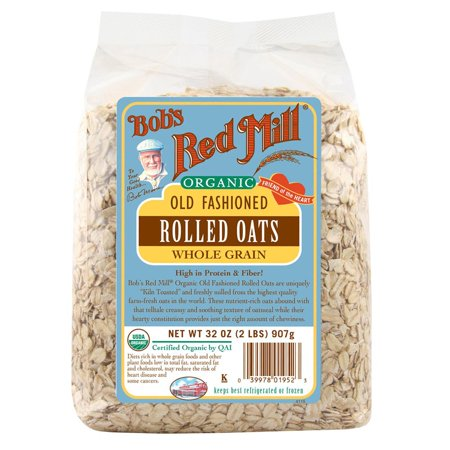 Bob's Red Mill, Organic Old Fashioned Rolled Oats, Whole Grain, 32 oz (pack of