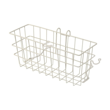 DMI Snap-On Walker Basket for Seniors, Clip-On Basket for Folding Walker, Walker Attachments for Rollator Walker, (Walker Carrying Basket)