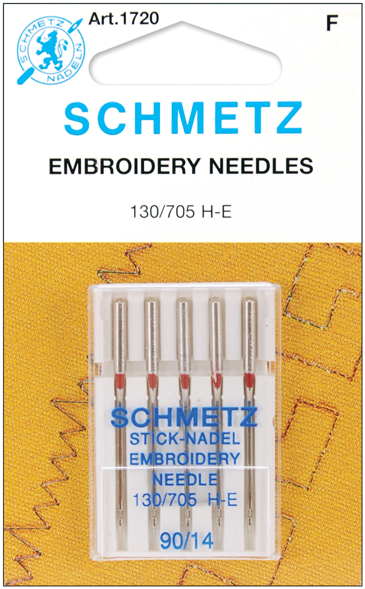 Embroidery Machine Needles-Size 14/90 5/Pkg