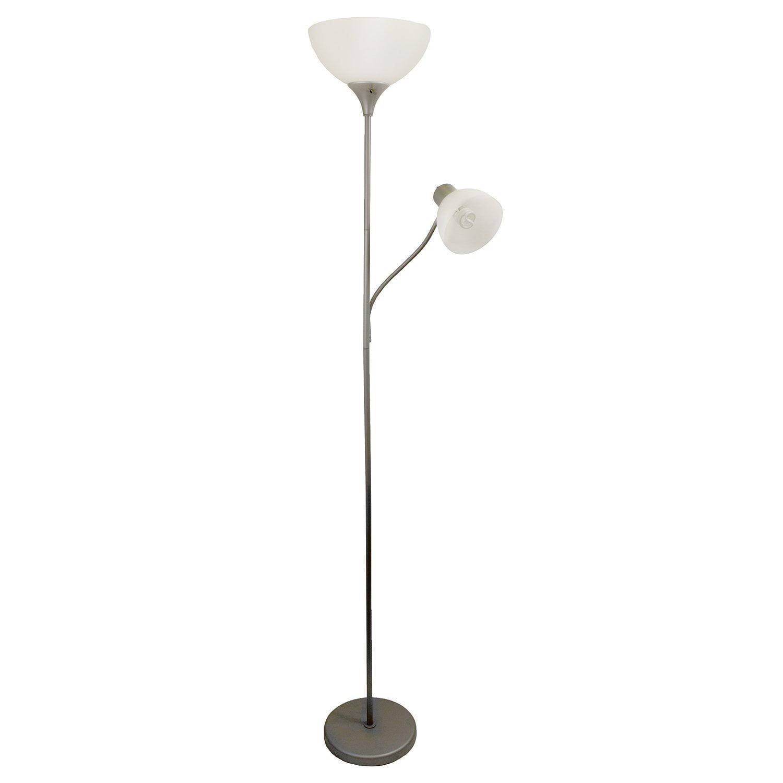 Simple Designs Lf2000 Slv Floor Lamp