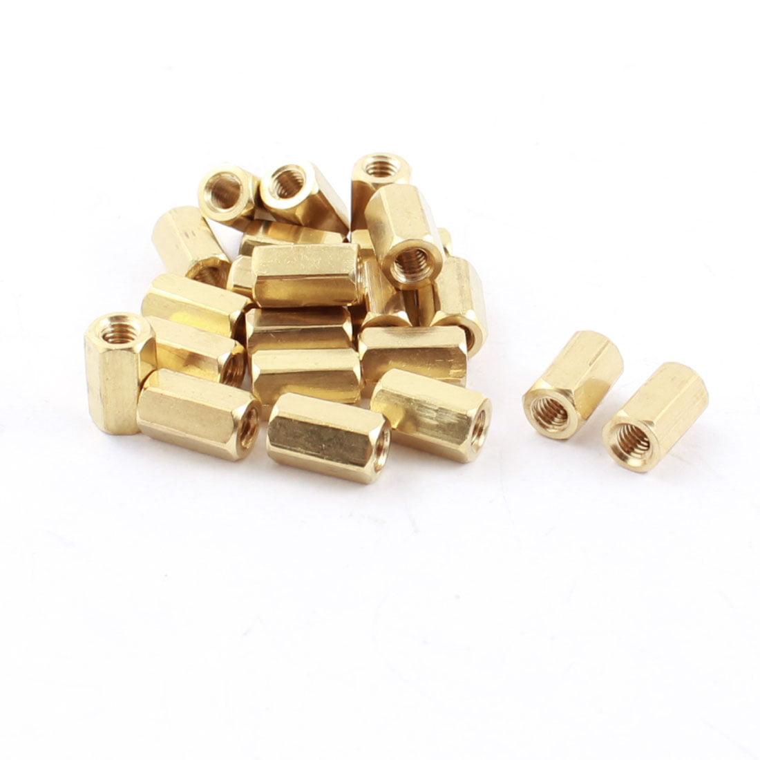 20pcs M3 x 8mm filetage femelle en laiton doré Standoff entretoise hexagonale - image 1 de 1
