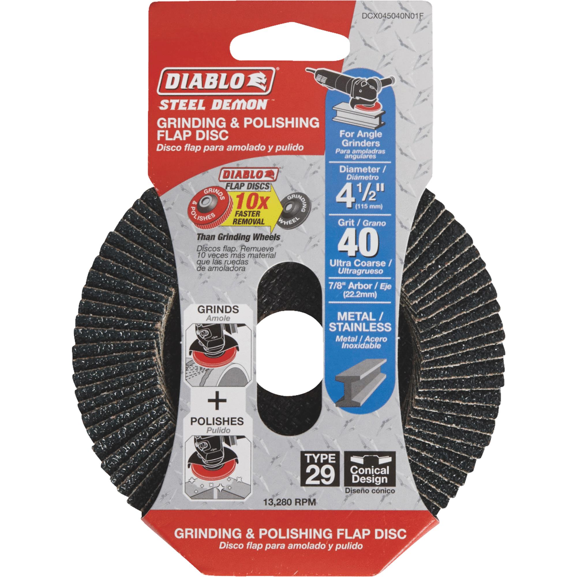 Diablo Type 29 Steel Demon Angle Grinder Flap Disc
