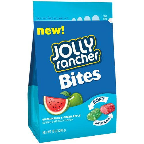 Jolly Rancher Bites Watermelon & Green Apple Soft Chewy Candy, 10 oz