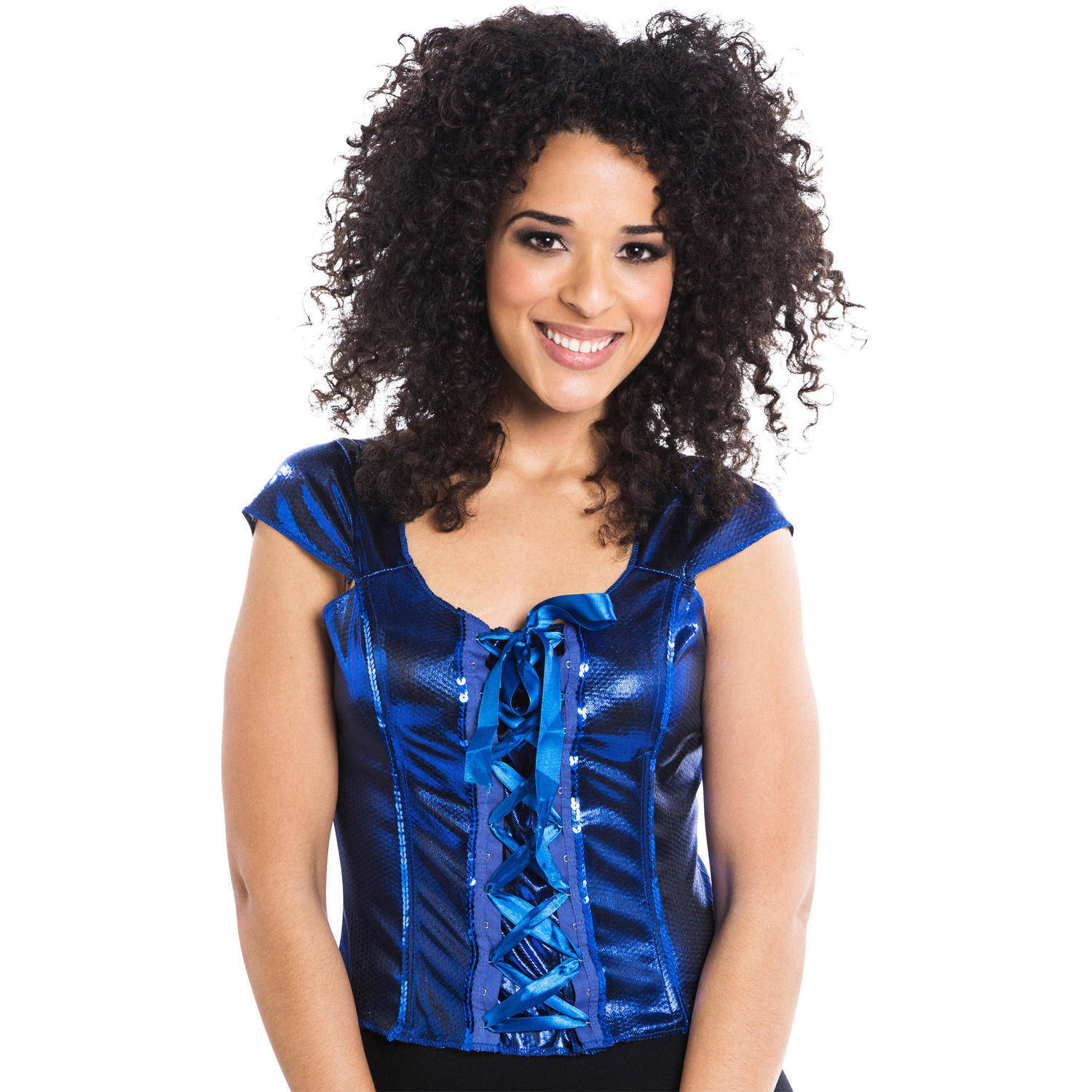 Lace-Up Blue Top Women's Adult Halloween Dress Up / Role Play Costume