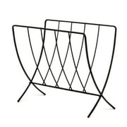Spectrum Diversified Seville Magazine Rack, Sturdy Steel Periodical Storage for Home & Office Organization, Chic Storage for Magazines, Records, Newspapers, Artwork & More, Black