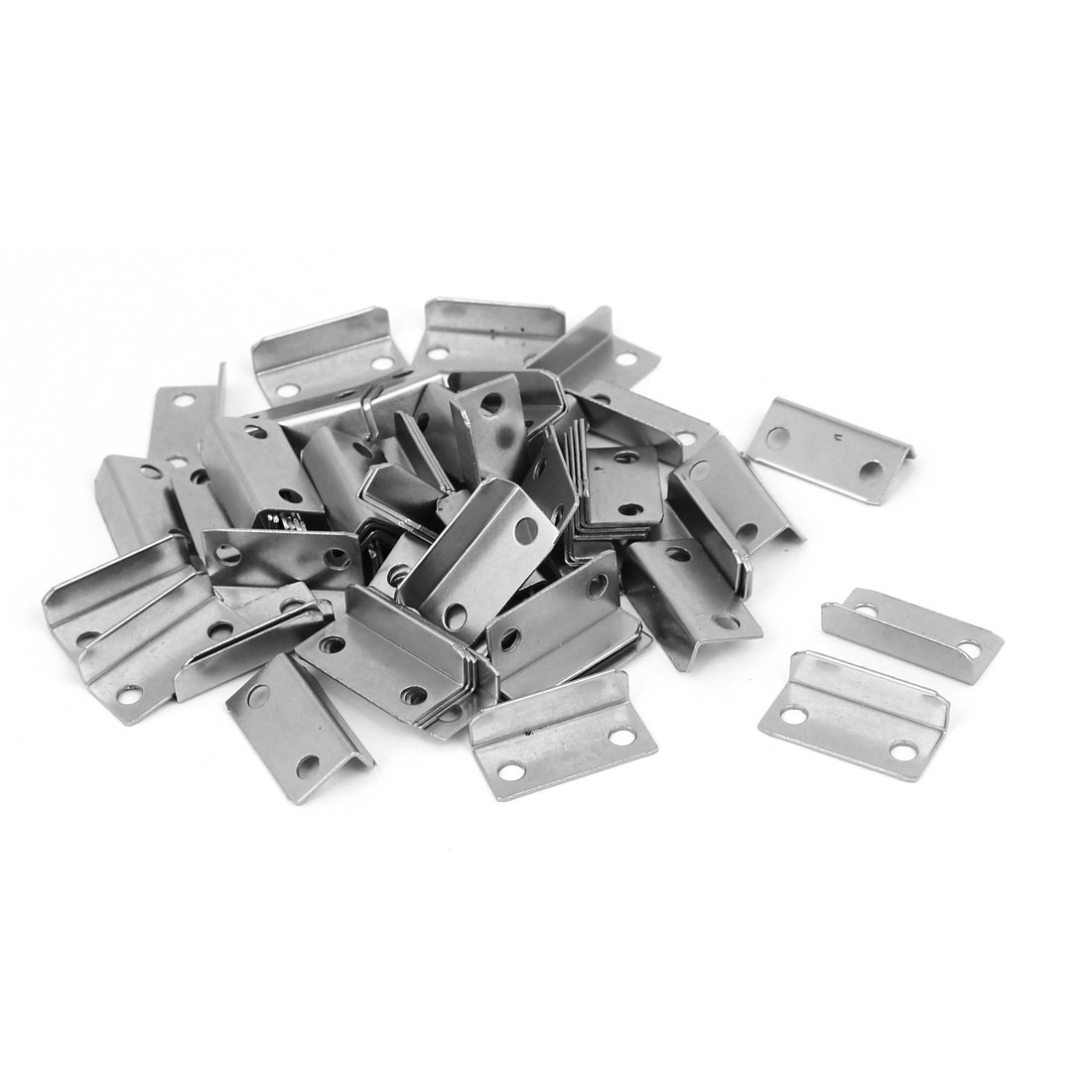 Home Cabinet Drawer Door L Shaped Metal Lock Strike Plate 29mmx14mmx8.5mm 80pcs