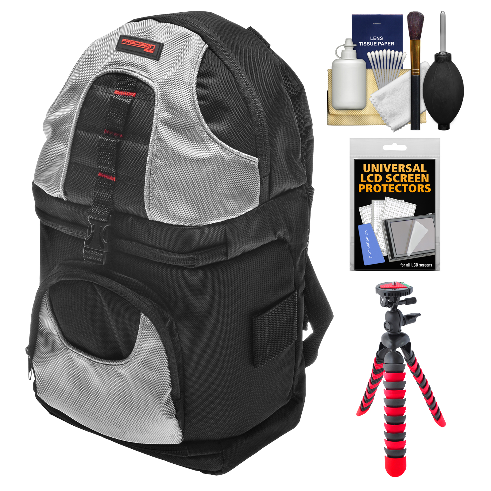 Precision Design PD-BP2 Sling Digital SLR Camera Backpack Case with Flex Tripod + Accessory Kit